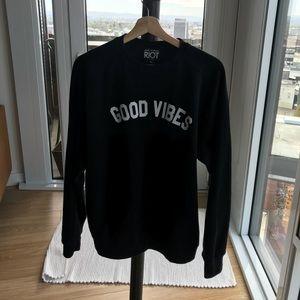Good vibes oversized sweatshirt